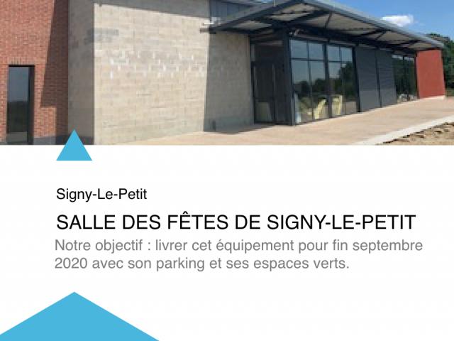 Actu - Salle des fêtes Signy Le Petit