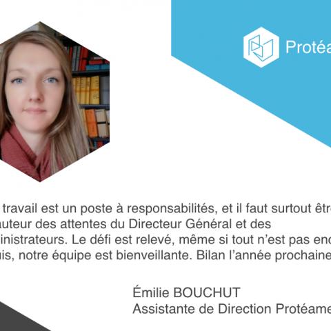 emilie bouchut, assistante de direction Protéame SEAA